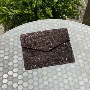 NWT Kate Spade dipped in glitter envelope clutch